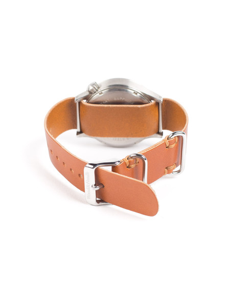 Saddle Tan Passthrough Leather Watch Strap