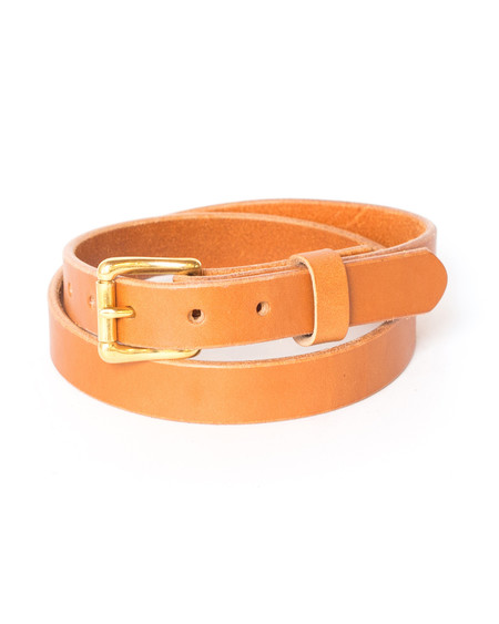 Wood&Faulk Tan Slim Martin Belt
