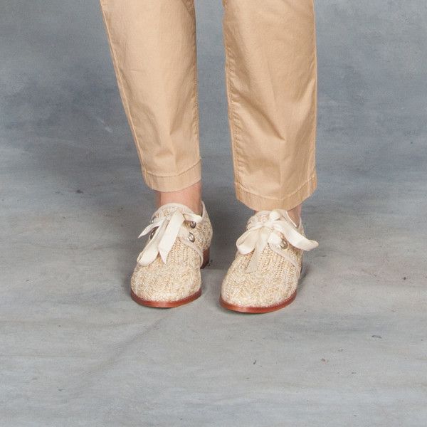 Matt Bernson Honey Raffia Dita Shoes