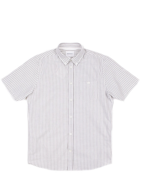 Norse Projects Anton Oxford SS Dried Olive Stripe