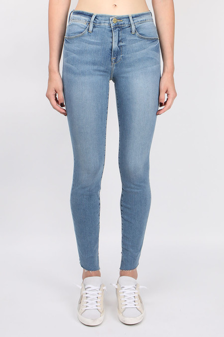 FRAME Denim Le High Skinny Cascade Hem