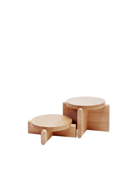 Areaware Wooden Pedestal Set - Beechwood