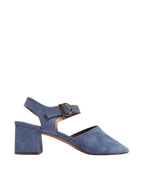 Intentionally Blank Crystal Shoe - Suede Blue