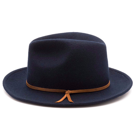 Unisex Yellow108 Luke Fedora in Navy