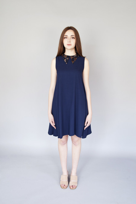 Jennifer Glasgow Virtue Dress Navy