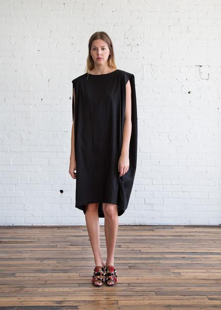 Black Crane Accordion Dress Black