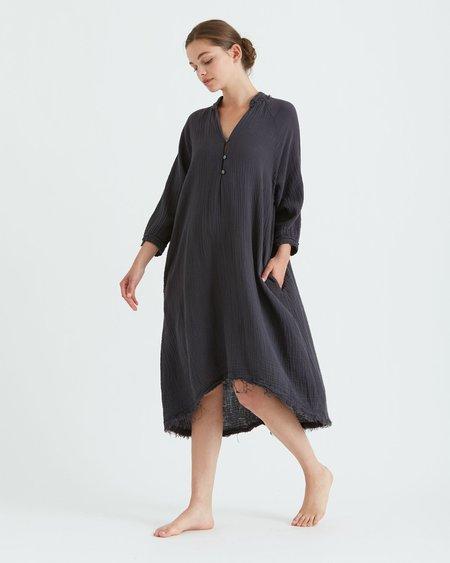 Double Gauze Dress- Dark Grey