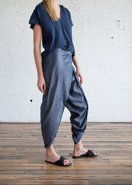 Anaak Maharani Wrap Pant Midnight Blue