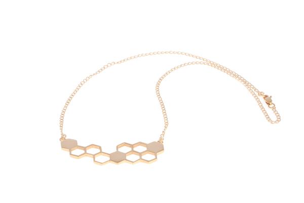 Shahla Karimi Honeycomb Pendant Necklace