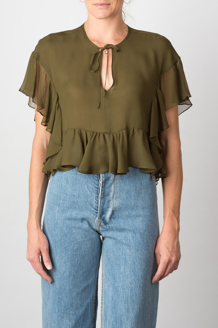 Rachel Comey Floater Top In Olive