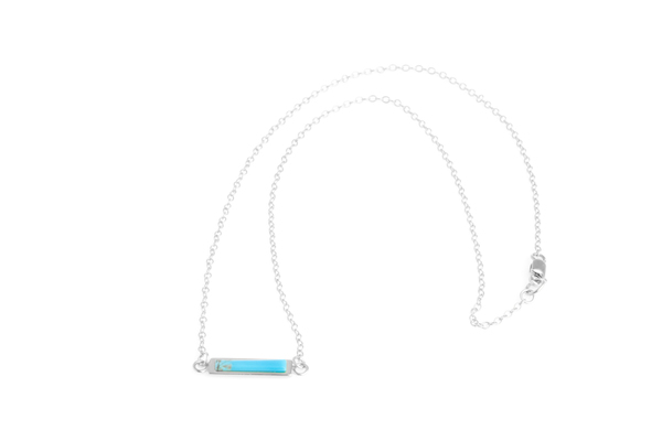 Shahla Karimi Bar Necklace with Turquoise