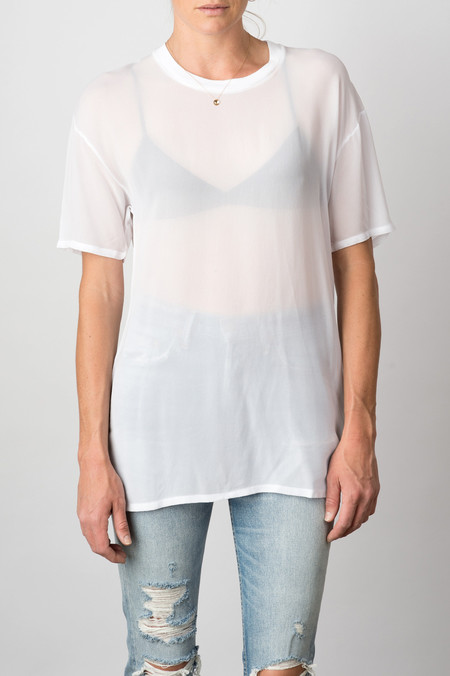 Lacausa Sheer Boy T In Whitewash