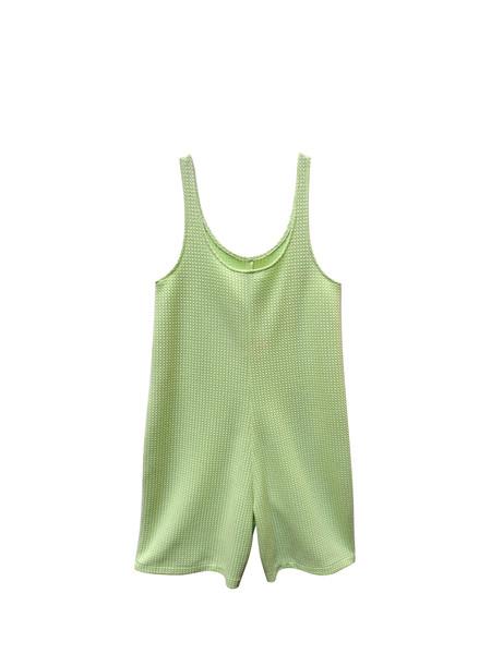 IGWT Rascal Romper - Green Knit Raschel