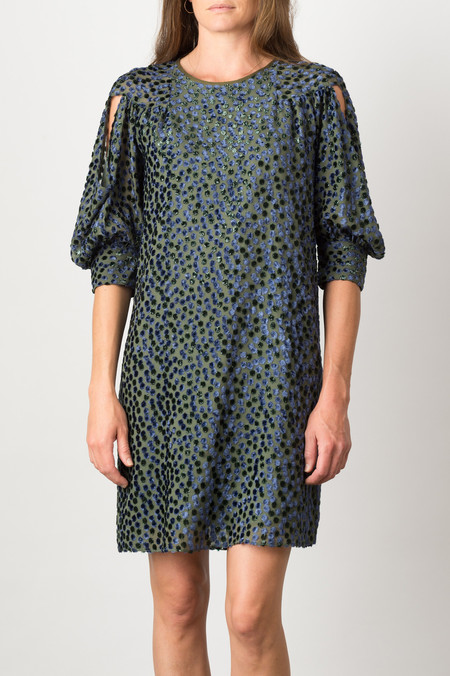 Rachel Comey Lunette Dress In Military Dots