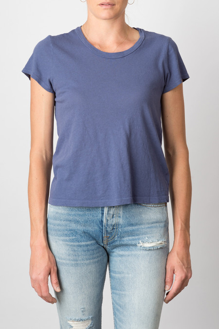 Lacausa Vintage Frank Tee In French Blue