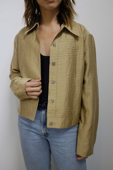 Hey Jude Vintage Silk Cropped Jacket