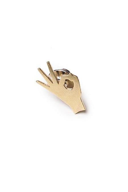 CASA MALASPINA Brass A-Ok Pin