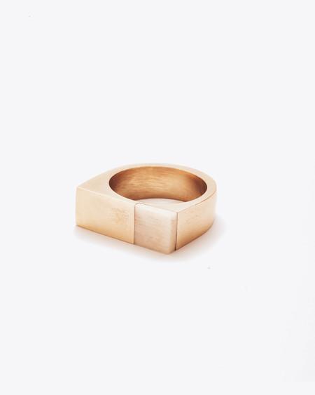 Nisolo Brass and Bone Plane Ring