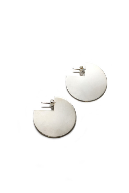 Young Frankk Silver Circle Earrings