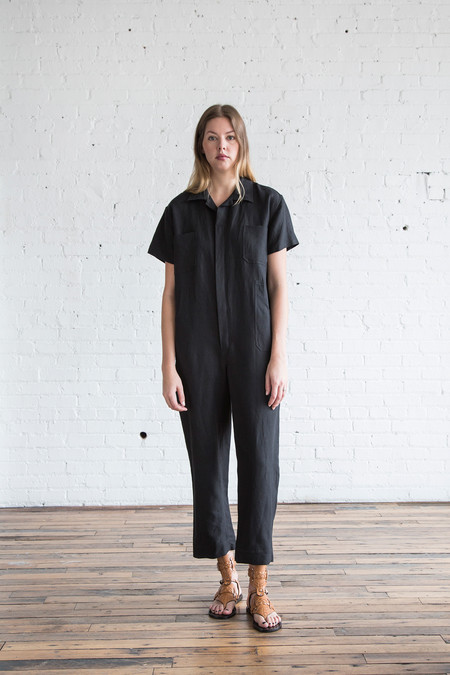 Caron Callahan Crawford Jumpsuit Black