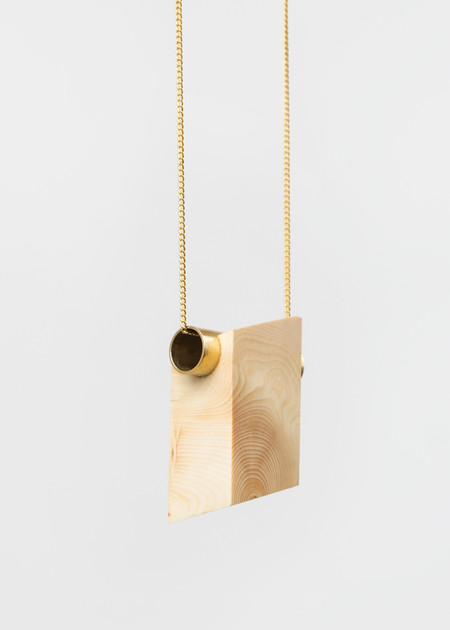 Stable State Pine Maderite Wood Necklace