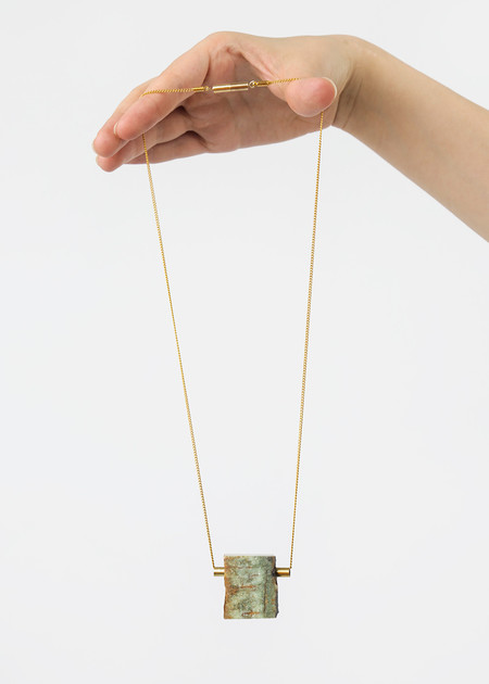 Stable State Rough Erode Stone Necklace
