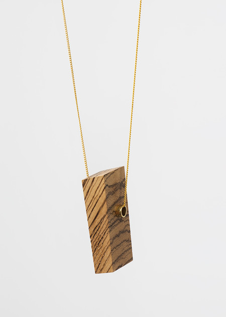Stable State Zebra Wood Maderite Necklace