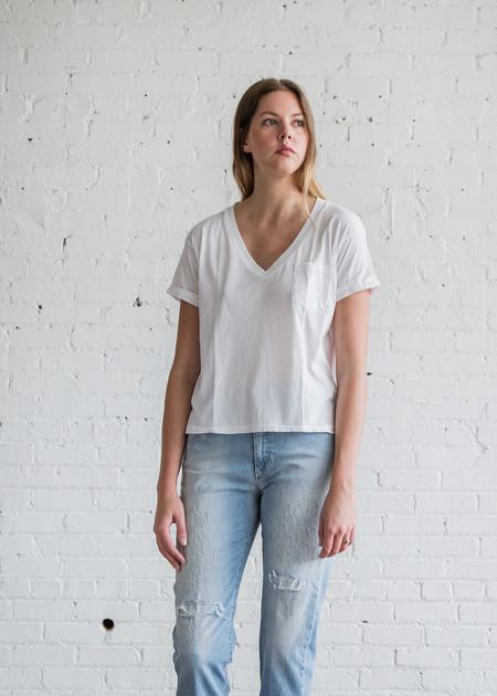 Calder Blake Charlotte V Tee in White