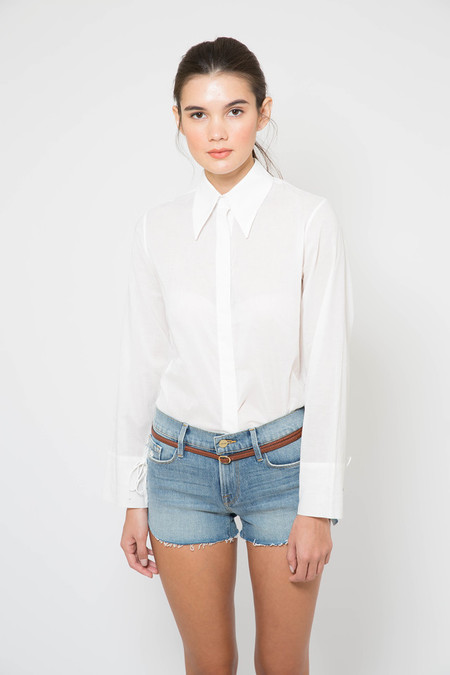 Assembly New York Assembly Silk Butterfly Collar Blouse