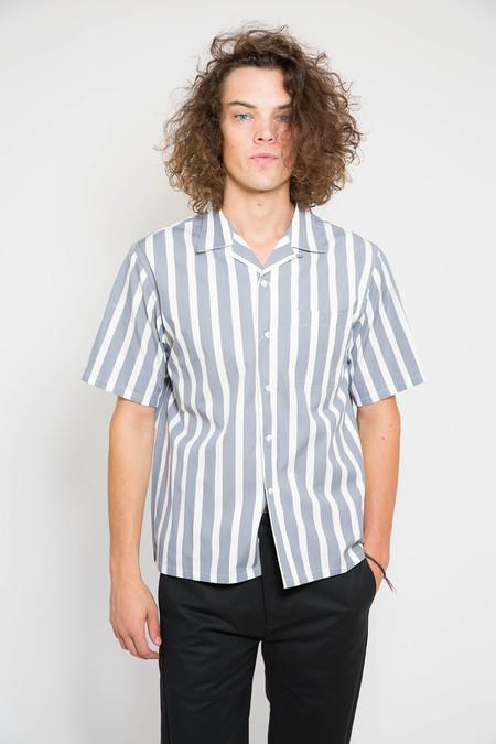 Maiden Noir Stripe Short Sleeve Shirt - Grey