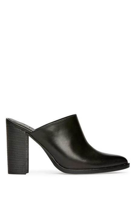 Freda Salvador Leather Luna High Heel Mule