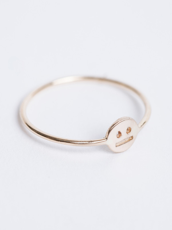 WINDEN BORED FACE RING