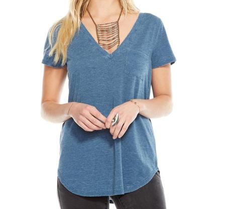 Chaser LA Vintage Jersey V-Neck T-shirt