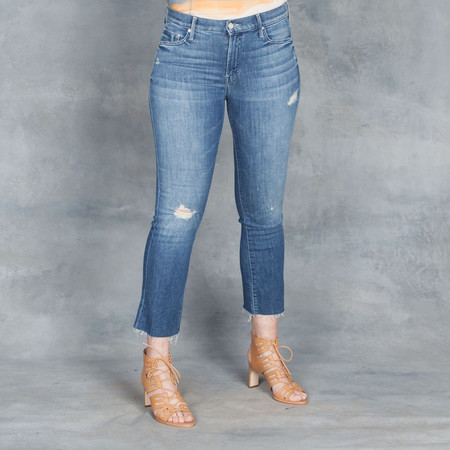 "Mother Jeans The Insider Crop Step Fray ""Gypsy"""