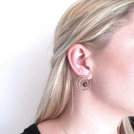Metalepsis Volten Stud Earrings in Brass