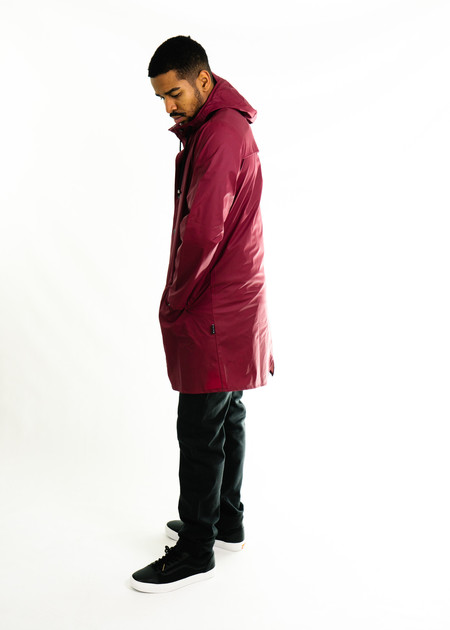 Rains Long Jacket (Bordeaux)