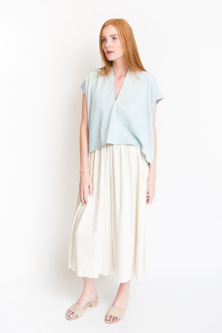 Miranda Bennett Everyday Top, Cropped - Light Indigo