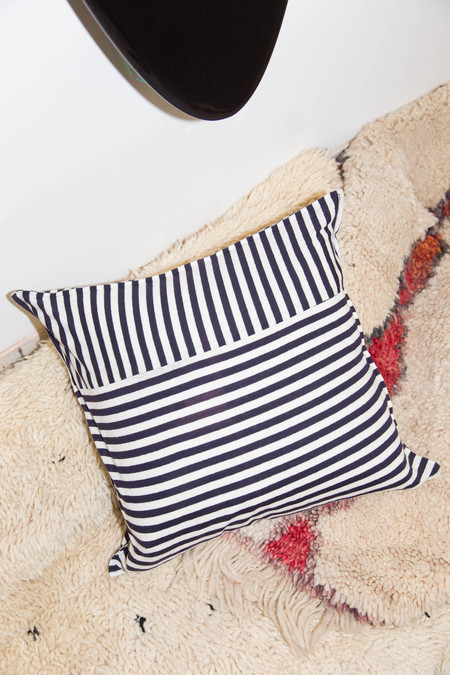 Heidi Merrick White Stipe Pillow