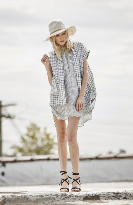H. Fredriksson Grid Kimono