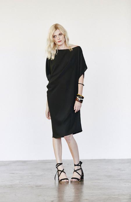 H. Fredriksson Silk Zoe Dress Black