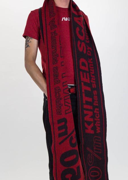 "Doublet Black ""Shrunk"" Super Long Knit Scarf"