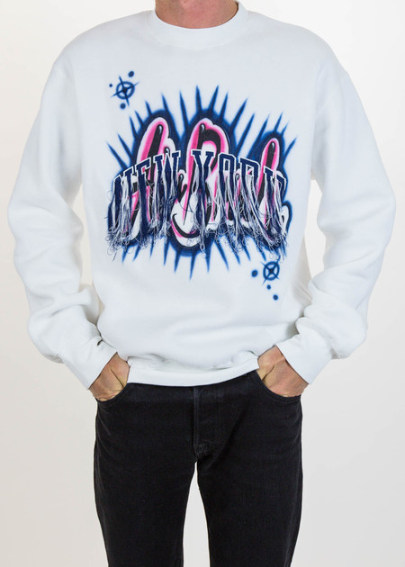 Doublet White Fringe Embroidery Air Brush Sweatshirt