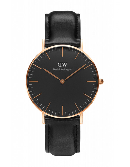 Daniel Wellington Classic Black Sheffield Watch Rose Gold