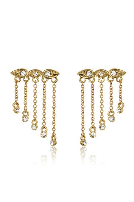 LUV AJ Posie Dangle Crawler Earrings