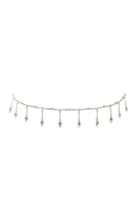 LUV AJ Silver Revel Starburst Shaker Necklace