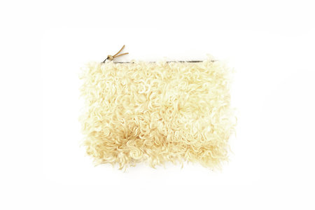 Primecut CREAM CURLY SHEEP CLUTCH