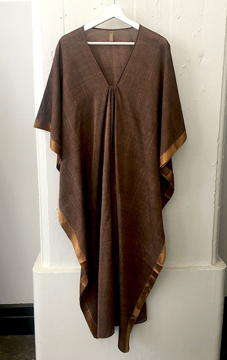Two Brown caftan with metallic border
