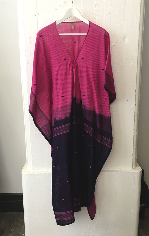 Pink caftan with purple front
