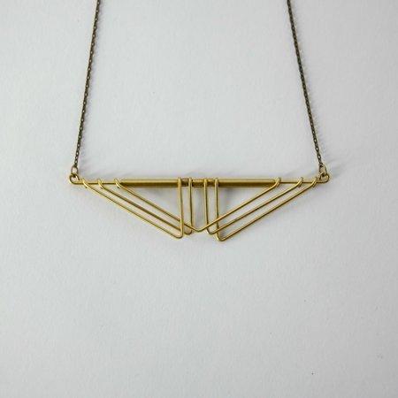 Hellbent Sarah Deco Chevron Necklace