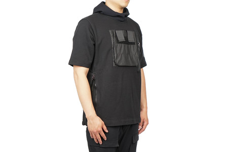 "Stone Island Short Sleeve Cotton Jersey Sweatshirt ""Black"""